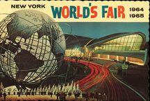 "1964-65 New York World's Fair / ""Peace Through Understanding""-World's Fair, Man's Achievement on a Shrinking Globe in an Expanding Universe / by Donna Hoekzema"