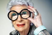 """Iris Apfel / """"My mother knew if you bought a couple of really good architectural outfits and put your money into accessories, you could create a million different looks. She taught that to me, which I think was invaluable."""" ~Iris Apfel / by Nanette South Clark"""