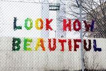 Tøyen Yarn Bombers / Ideas - and final yarn designs - to beautify the fence around Sommerfryd Barnehage on Tøyen Torg, Oslo, Norwayt. #sommerfryd #tøyenyarnbombers #tøyen