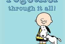 """Peanuts / """"Never jump into a pile of leaves with a wet sucker."""" ~Charles M. Schulz"""