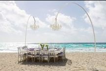 Overhead Eye Candy / hanging decor at weddings and special events
