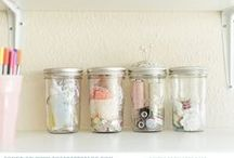 Get Organized / Containers, shelves and smart DIY's to get you organized!