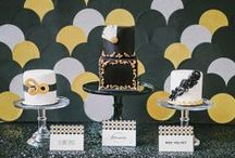 Black and White (and a little Gold too) Party Ideas / Glam black, white and gold ideas for your wedding or special event