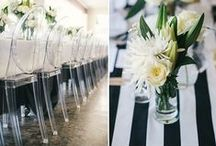 colour {black & white wedding inspiration} / by The Pretty Blog