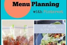 Menu Planning with Pinterest / Menu Planning ideas based on using pinterest as a way to keep track of recipes.