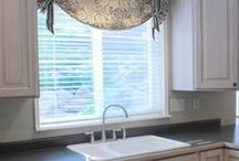 Window Treatments / Draperies, cornices, roman shades. It's all in the details.