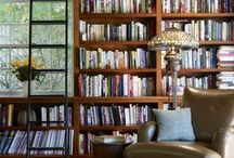 Rooms with books / Rooms to snuggle up in to read or just enjoy the beauty of the bookshelves and a good library.