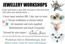 MY JEWELLERY WORKSHOPS / International author, jewellery designer TV demonstrator and creator of the Whammer, runs a range of fun, creative one day jewellery workshops. Check out what inspires you and email Linda to make a booking!