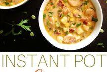 ❤ Instant Pot Soups, Chilis, Stews / Best collection of Instant Pot / Pressure Cooker stews, chilis, and soups recipes | healthy | comfort-food | vegetarian | creamy | paleo | vegetarian | chicken | beef | potato