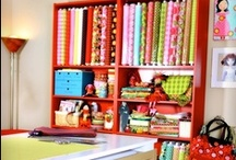 sewing space daydreams / ideas for the sewing studio I will have one day