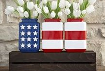 July 4th / July 4th DIY ideas, patriotic crafts, red, white, and blue food and recipes that can also be used to decorate for Memorial Day, Flag Day, and Labor Day.