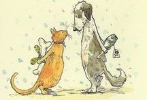 """Anita Jeram / Famous children's book illustrator, especially known for her artwork in """"Guess How Much I Love You"""". / by Renate Bell"""