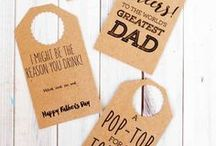 Happy Fathers Day / DIY Father's Day, gifts for dad, father's day projects, what to make for Dad, Grandpa, Uncles, and husbands for Father's Day.