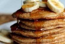 "BRUNCH / Omlets, waffles, pancakes, French toast, etc. When ""breakfast"" is a little later and more leisurely (not to mention, caloric) than usual.  / by Linda M"
