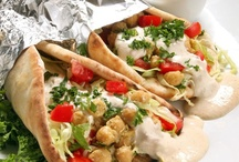 FOOD: Wrapped / Wraps, Crepes, Tacos,  Pitas, etc -- with vegetarian fillings / by Linda M