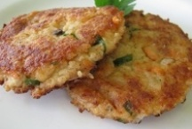 FOOD: Fritters /  Savory pancakes, fritters, croquettes, and patties. Grain and/or veggie based. / by Linda M
