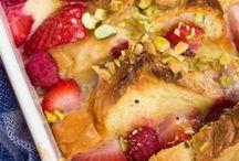 Breakfast To Savor / breakfast foods, muffins, tarts, coffee cake
