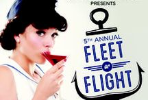 Fleet or Flight / Nautical and Aeronautical inspired fashions for Spinsters of San Francisco's Fleet or Flight charity party benefiting City of Dreams