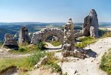 """The Castle of Cachtice / Did you ever heard of Elizabeth Bathory?! The controversially famous medieval Countess, also called the """"Blood Countess"""" or the """"Lady Dracula""""? These castle ruins are authentic place where she lived and died in 1614! The Castle of Cachtice is situated in mountains above Cachtice and Visnove village, Trencin region, western Slovakia. It is definitely worth the travel!"""