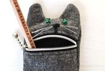 Bags & More Bags / bags, purses, carry-alls, and more ---sewn, knit, crocheted, and recycled / by Chris