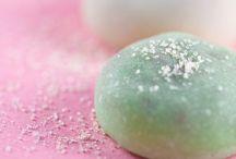 Mochi and other gelatinous confections! / Mochi, Manju, Wagashi, agar jellies, sweet dumplings, bean pastes, sesame balls, Dango, even Turkish delight!  / by Alyssa Cook