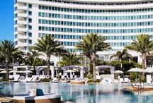 Travel / Travel to Paradise: Explore the iconic Fontainebleau Miami Beach and bask on our sun-drenched pool deck.