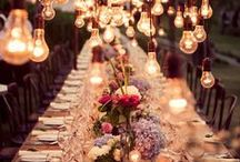 Wedding Bells / A whimsical, rustic, ephemeral, outdoor wedding filled with candles, lights, and flowers / by Carly Hebert