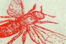 Printmaking / Ideas for linocut, block printing, gelliprint and screen printing projects