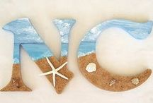 Beach Decorating / Ideas for home decorating with beach accessories / by Marcia Shepherd