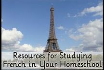 Learning: Foreign Language / Resources for studying a foreign language in your homeschool.  Special emphasis on French, since that's what my kids are working on.