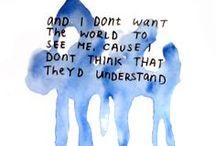 Lyrically Speaking / I like to mix up lyrics with my Art Journaling.... / by Leah Fox