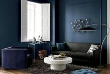 tone on tone / Key furniture pieces visually recede into matching painted walls to make small spaces appear larger.