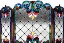 Antique Screens,Glass Panels / by Christine Proudlock