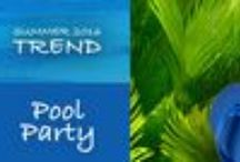 Pool Party 2016 Fashion Trends / The Pool Party colors--cerulean blue and lime green--popped up on the 2016 runways