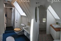 MY HOUSE - bathroom / Vi renoverade vårt badrum med snedtak 2012. Här är inredningen vi köpte och hur resultatet blev.  We refurbished our slanted ceiling bathroom in 2012. Here's what we used and how it ended up looking.