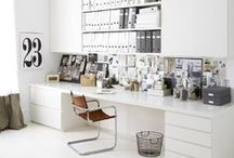 INTERIOR DESIGN Work space / Home office, craft room, desk, arbetsrum / by Camilla Callenmark