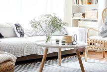 INTERIOR DESIGN natural neutrals / White, cream, beige, wood, grey, brown, black, earthy tones, monochrome