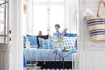 INTERIOR DESIGN blue & white