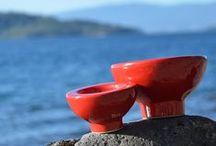 RED / Algunas de las cerámicas que hacemos en color rojo