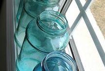 Crafts:  Painted Mason Jars