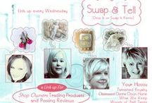 Swap & Tell Party / Come join the party to get more exposure for the products you sell.  We meet each Wednesday to offer an item from our merchandise to swap for an item from another seller.  Then we review and promote that seller on our blog. / by Donna Wilkes