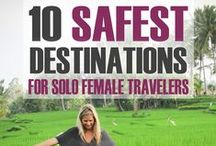 Solo female travel / Tip and locations for solo female travel.