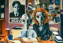 The X-Files / The Truth Is Out There.  Been an X-Files nerd since the day it came out thanks to my very awesome Grandma who got me into the show. <3