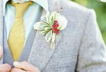 HONEYCOMB: the men / Grooms fashion, boutonnieres for groomsmen, gift ideas