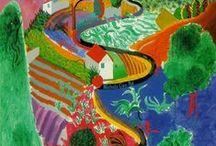 David Hockney / The art of David Hockney.  British, contemporary artist, draughtsman, printmaker, stage designer and photographer. 1937-