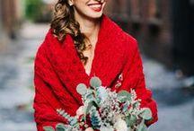 HONEYCOMB: winter wedding /  Marsala weddings, burgundy hues, tweeds, fur capelets and fir trees