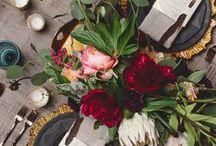 HONEYCOMB: marsala wedding