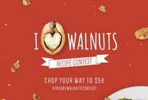 I <3 Walnuts Recipe Contest / Apples love 'em. Avocados adore 'em. Blueberries go bonkers for 'em. Walnuts pair perfectly with all kinds of fruits, veggies, and more. Got a creative combination? We want to see it in the #IHeartWalnutsContest.  Share your best walnuts recipe and you could win $5,000! #walnuts #recipe #recipecontest #cooking #baking #contest www.walnuts.org/ihwcontest / by California Walnuts