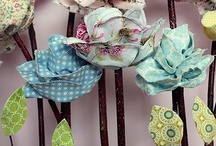 fabric flowers / by laura west kong