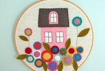 hoop hoop hooray! / embroidery hoop art and home decor. / by laura west kong